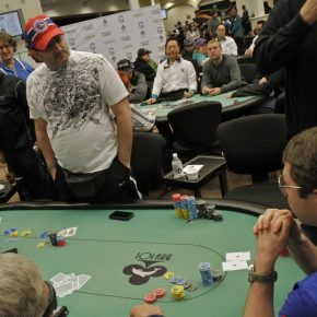 I took all of Mike Matusow's chips. © WPT