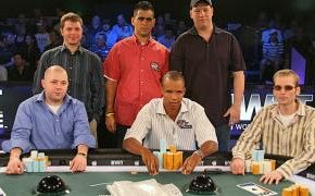 Mirage final table lineup. © pokerlistings