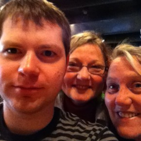 Me, my mother, and my aunt Lisa