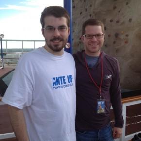 Garrett and I at a wall climb on a cruise ship