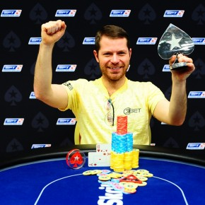 Winning a $7,000 turbo event in Prague for $62,000.  © Tomas Stacha